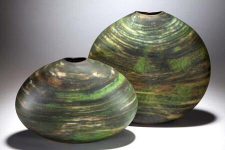 Grant Donaldson After The Rain Vase 1 2 Glass Art