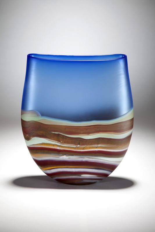 Grant Donaldson Landscape Vase Glass Art