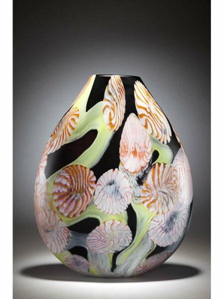 Grant Donaldson Night Garden Glass Vase Front