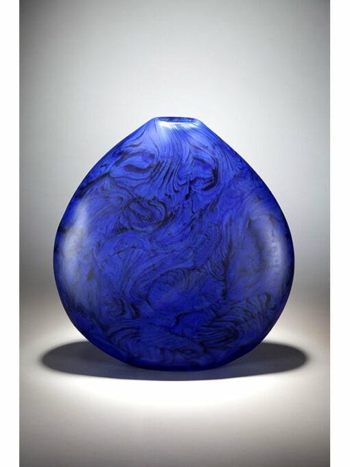 grant donladson lapis blue glass vase