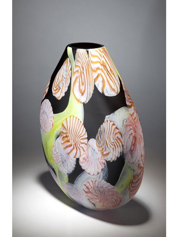 Grant Donladson Night Garden Glass Vase Side