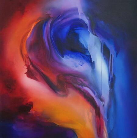 Liv Vardy Burning Into Night Painting