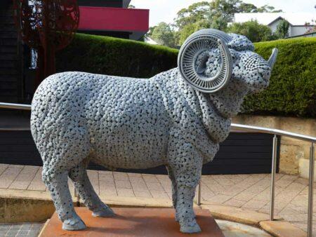 Greg James Rambo Metal Sculpture 4