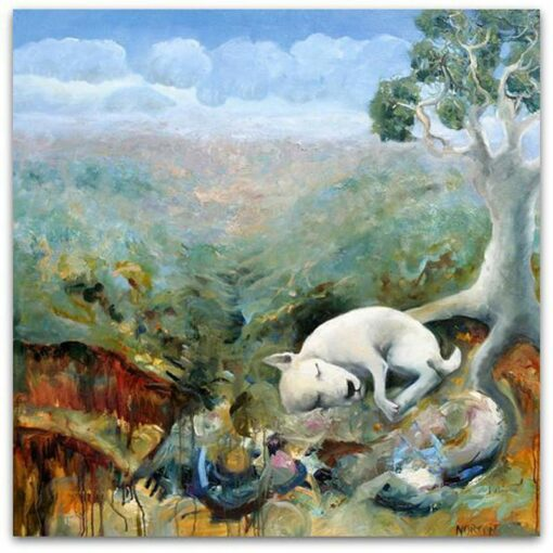 Helen Norton Dogs Bed Painting
