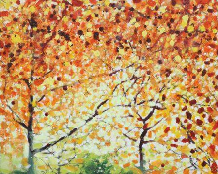 Joe Webster Autumn Pair Painting