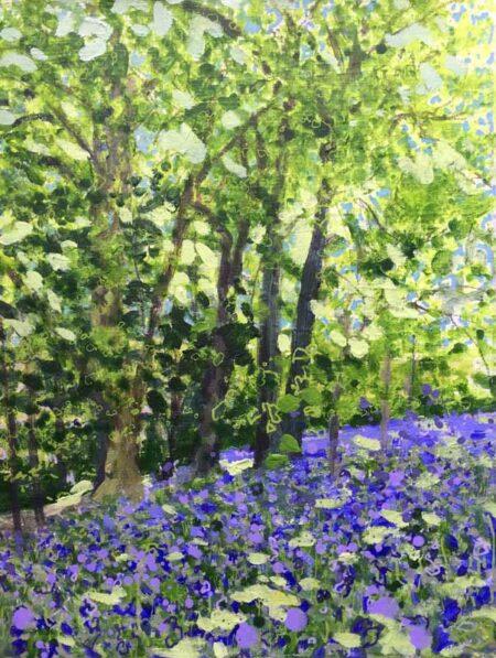 Joe Webster Birdsong Bluebells And Ancient Beech Painting