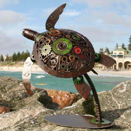 Jordan Sprigg Surfs Up Turtle Sculpture