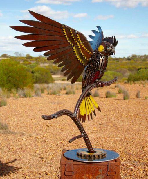 Jordan Sprigg The Rain Bird Yellow Tail Cockatoo Sculpture