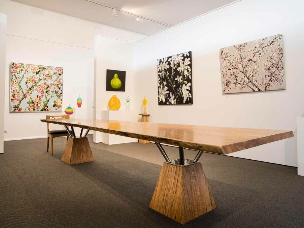Felicia Aroney Exhibition Hanging In The Jahroc Galleries