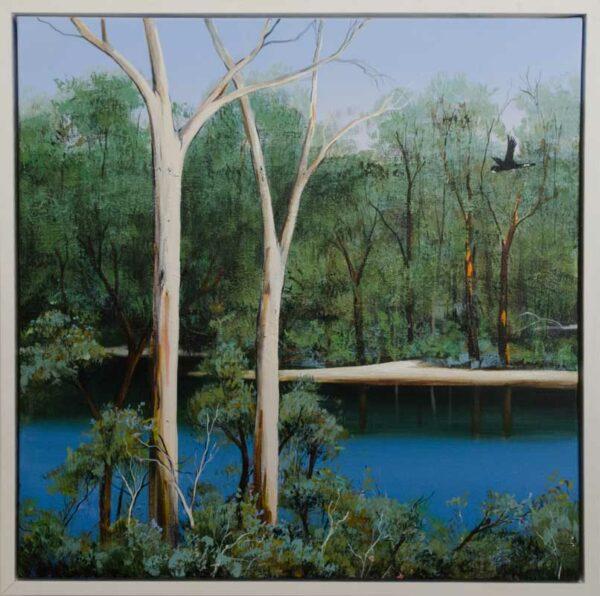 Iwin14 Ingrid Windram Flight Along The Blackwood Left Painting