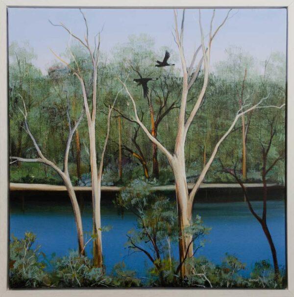 Iwin14 Ingrid Windram Flight Along The Blackwood Right Painting