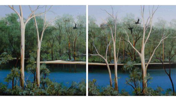 Ingrid Windram Flight Along The Blackwood Painting