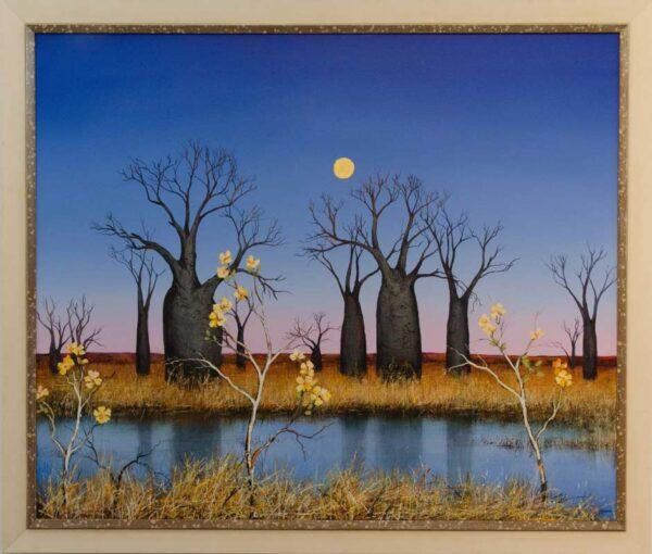Ingrid Windram Kapok Under The Kimberley Blue Framed Painting