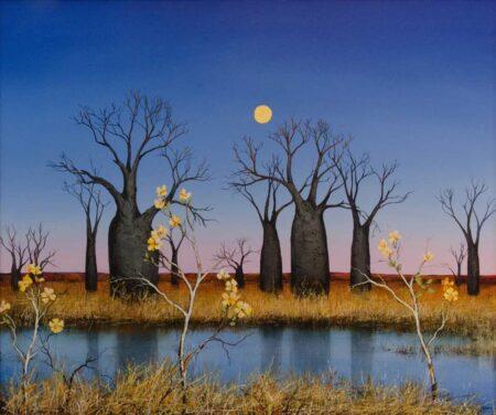 Ingrid Windram Kapok Under The Kimberley Blue Unframed Painting