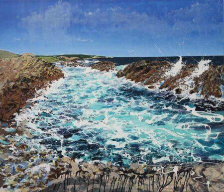Joe Webster Ocean Swell Stone Monoliths Painting