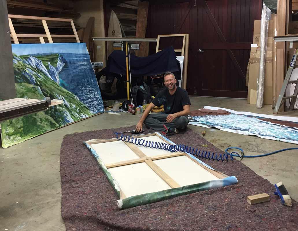 Joe Webster Framing Paintings