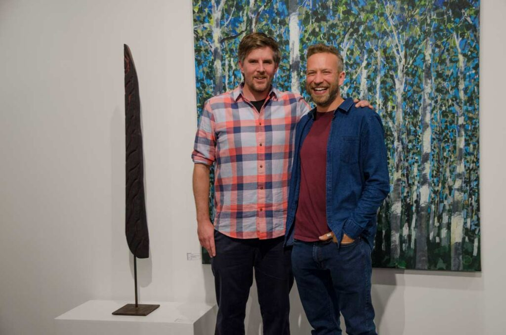 On Location Exhibition Opening Night Stuart Mcmillan And Joe Webster