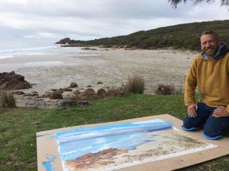 Llth July Joe Webster Painting At Castle Rock