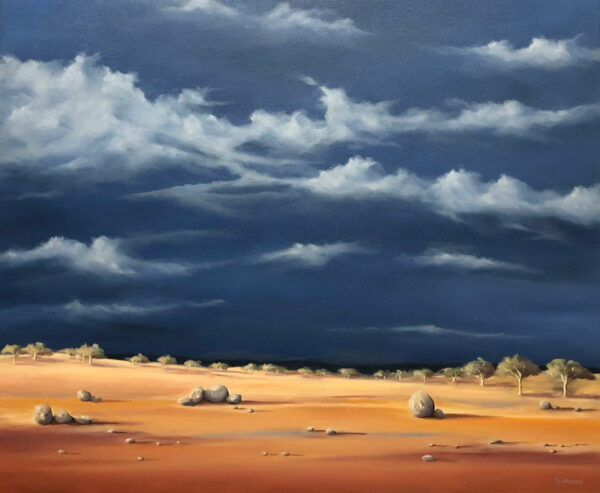 Shane Moad Summer Storm In The Wheatbelt Painting