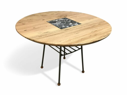 Cafe Dining Table Marri With Orbicular Granite