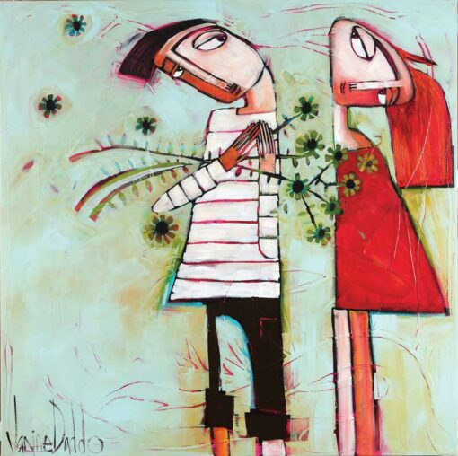 Janine Daddo Love You With Flowers Painting