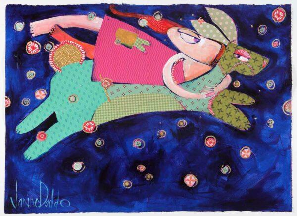 Janine Daddo Starry Night Adventure Bound Painting