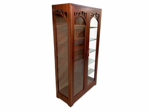 Jarrah Canopy Display Cabinet
