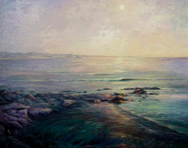 Peter Scott Moonlight And Wave Sounds Painting