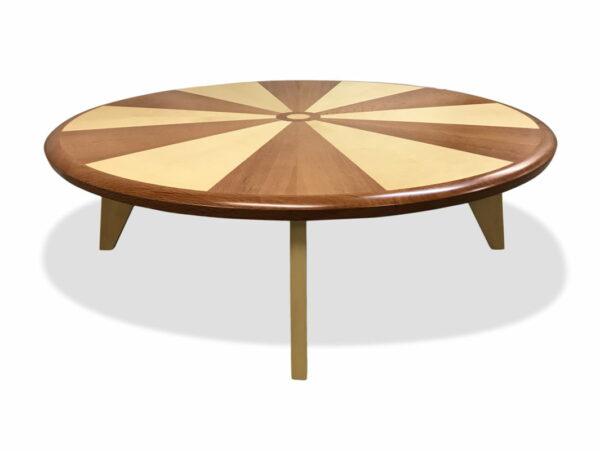 Sunburst Round Coffee Table Side