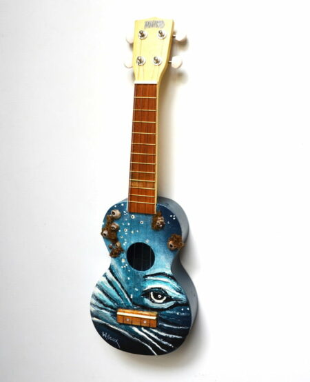 Charles Wilcox Big Blue Ukulele Side