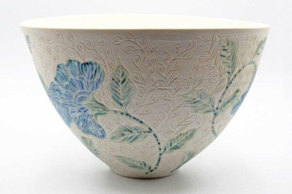 Dgr82 Dariya Gratte Carved Porcelain Bowl 380