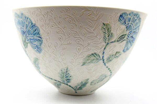 Dariya Gratte Carved Porcelain Bowl No 2