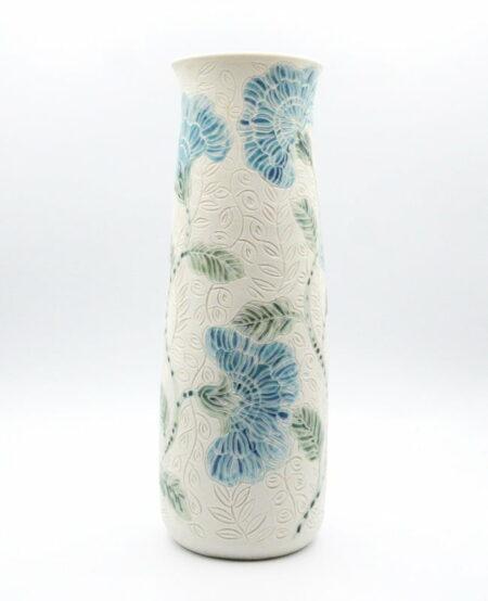 Dariya Gratte Carved Porcelain Vase