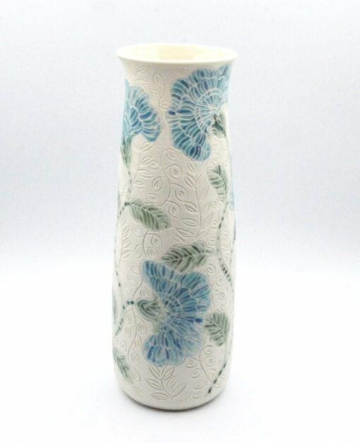 Dariya Gratte Carved Porcelain Vase Top