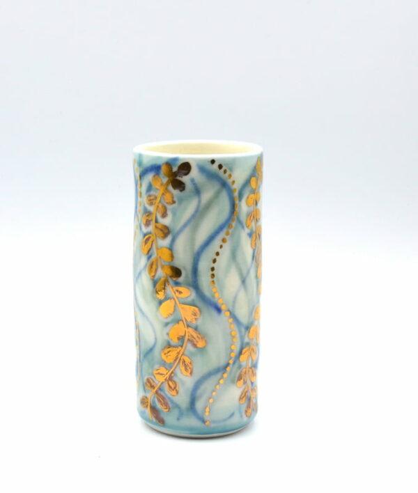 Dariya Gratte Porcelain Gold Lustre Vase 2
