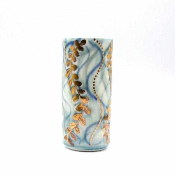 Dariya Gratte Porcelain Gold Lustre Vase No 2