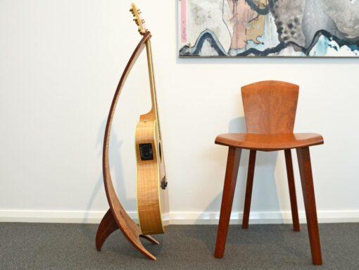 Get Uked Guitar Stand Quilted Marri Jarrah Fret Inlay Jarrah Back Side Web