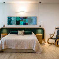 Grandeur Upholstered Wooden Bedhead