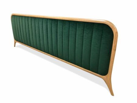 Grandeur Upholstered Wooden Bead Head Side