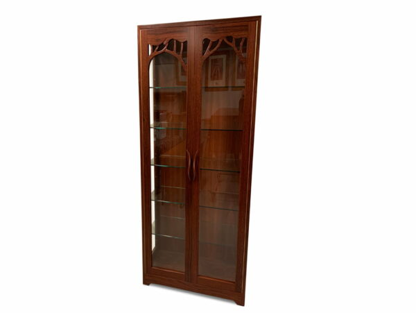 Jarrah Canopy Display Cabinet