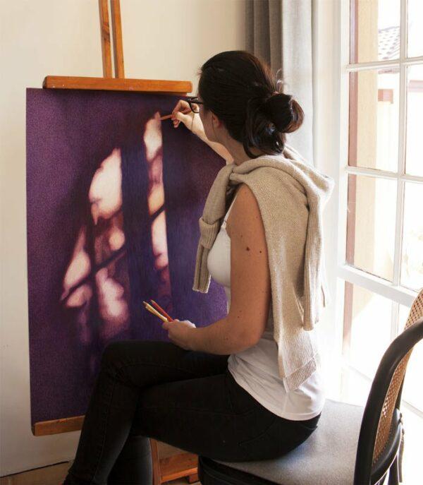 Katie Gordon Working On Untitled Shadows 1