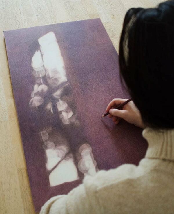 Katie Gordon Working On Untitled Shadows 3