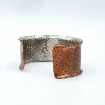 Michelle Gauntlett Bi Metal Textured Formed Cuff