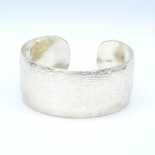 Michelle Gauntlett Fine Silver Antique Lace Cuff No 2