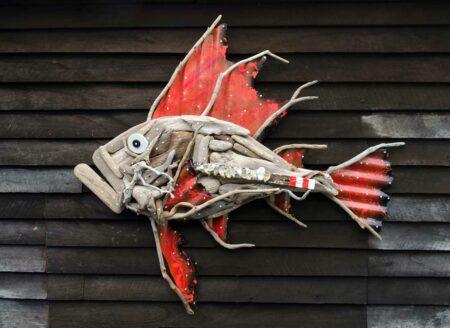 Charles Wilcox Oceanus Driftwood Sculpture