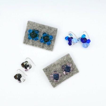 Ehe154 Earings Evelyn Henschke Flower Bead Earings