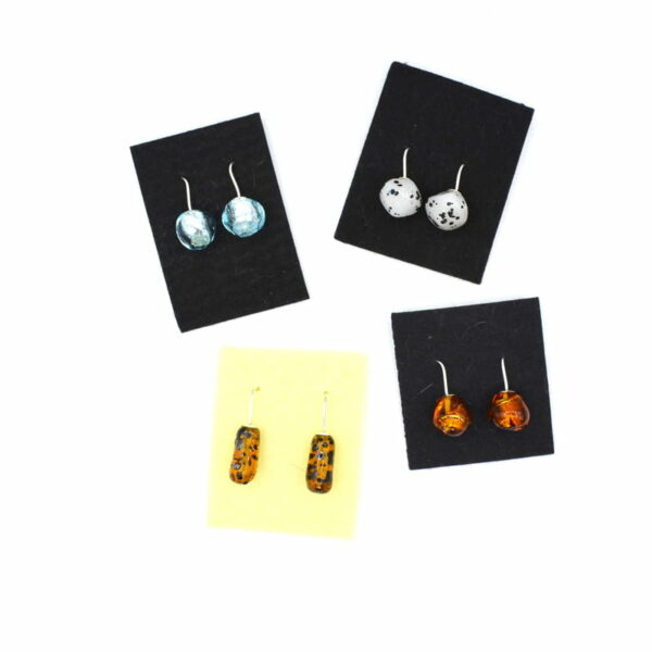 Ehe156 Earings Glass Bead Drop