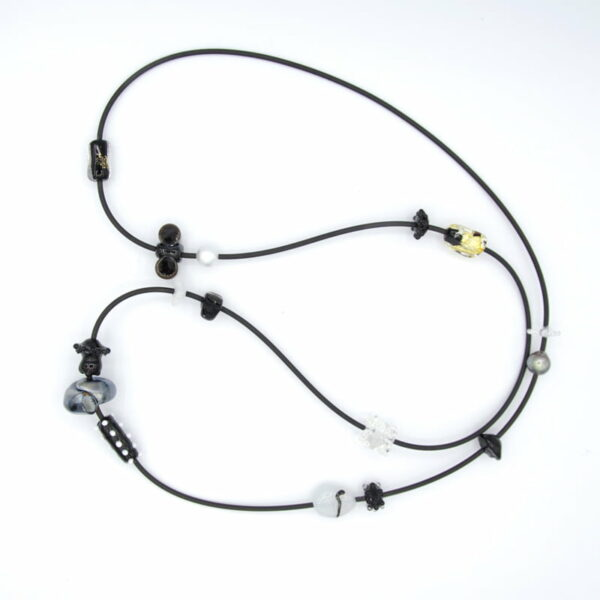 Ehe159 Pearl And Glass Bead Necklace