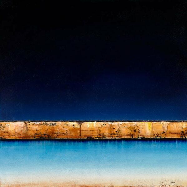 Josh Windram Silver Blue Painting