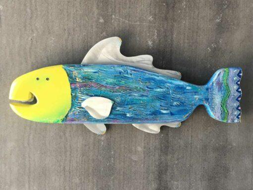 Gabe Heusso Goober Fish Wall Sculpture
